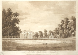A view of Sir Edward Walpole's house at Isleworth